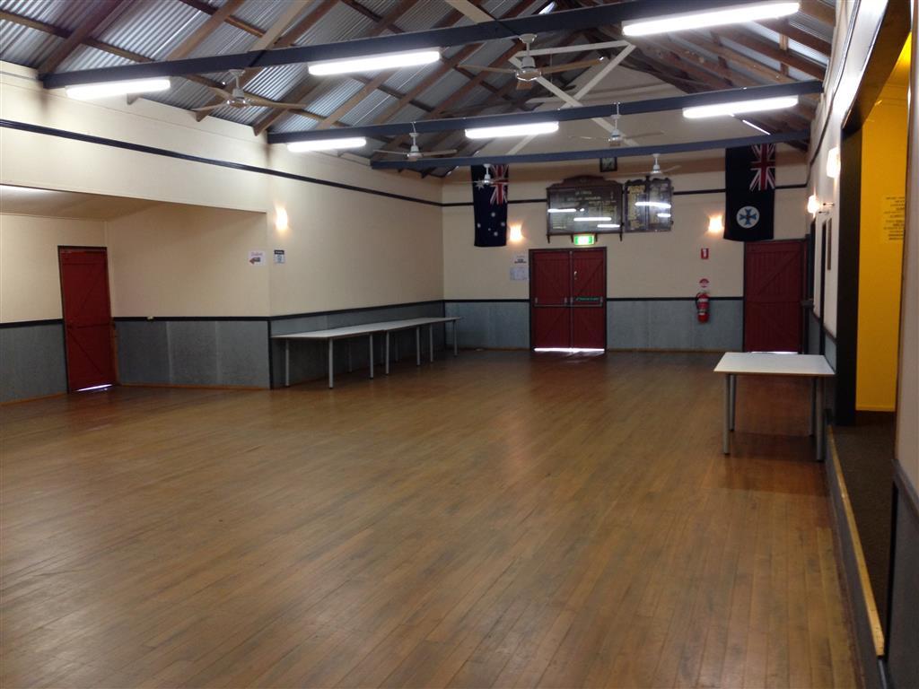 Inside Pie Creek Hall
