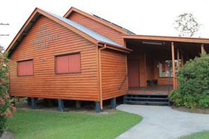 Pie Creek Community Hall main entrance